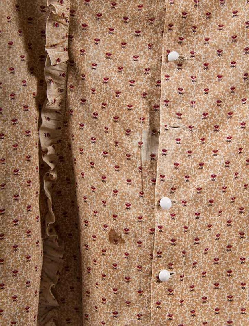3 TODLERS' CALICO DRESSES, 1820s & 1860s - 8