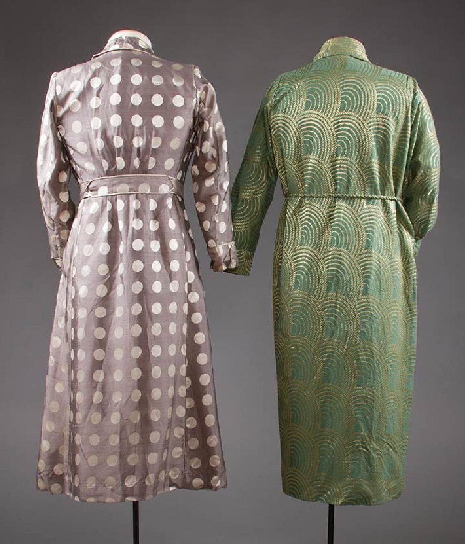 2 MEN'S SILK BATH ROBES, 1930s & 1950s - 3