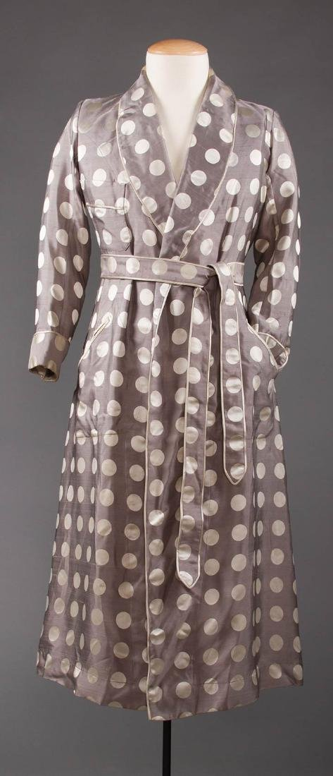2 MEN'S SILK BATH ROBES, 1930s & 1950s - 4