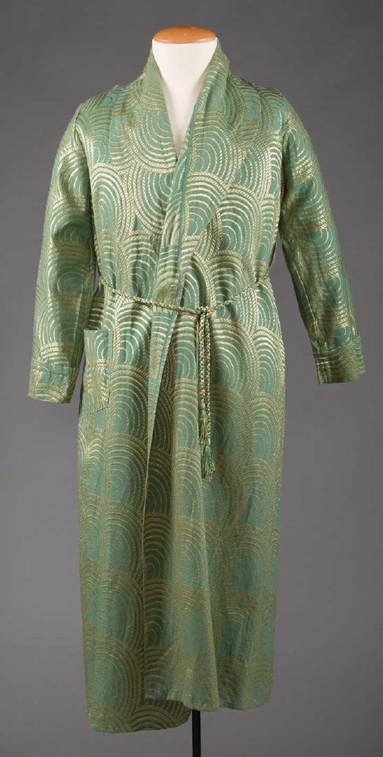 2 MEN'S SILK BATH ROBES, 1930s & 1950s - 7
