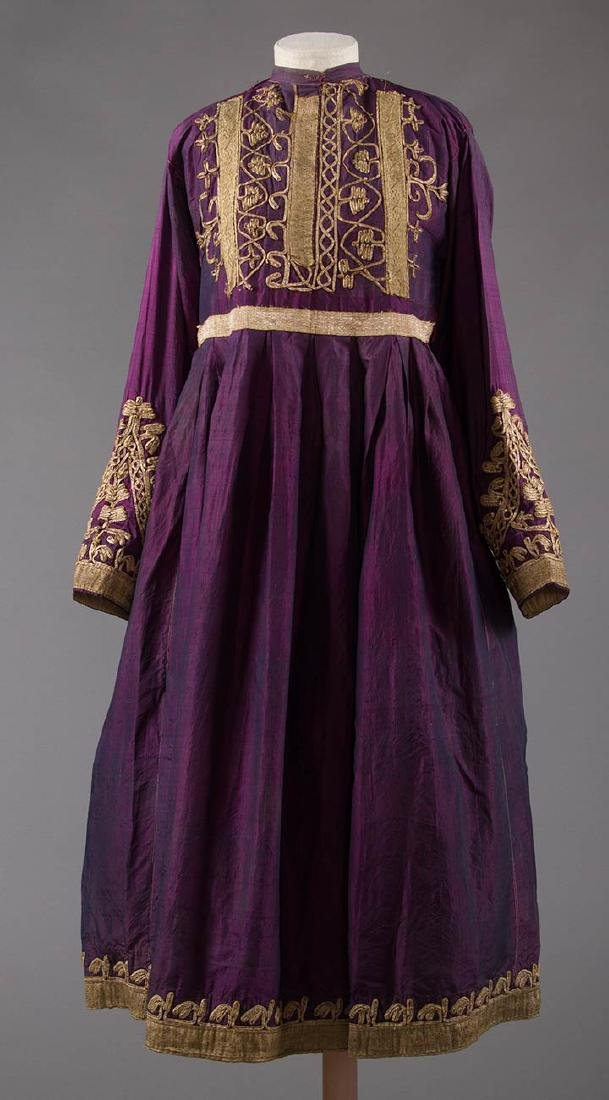 PURPLE & GOLD ETHNIC DRESS