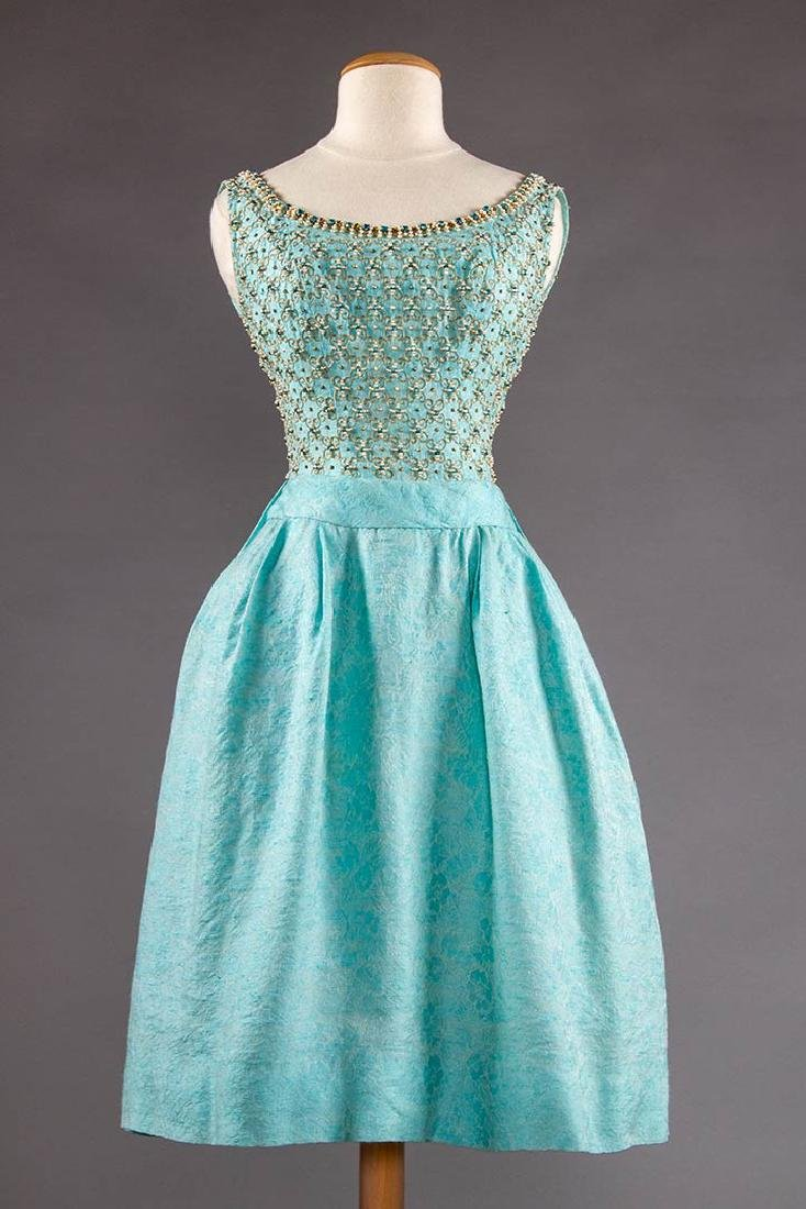 STEIBEL COUTURE PARTY DRESS, LONDON, c. 1960