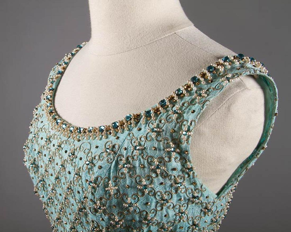 STEIBEL COUTURE PARTY DRESS, LONDON, c. 1960 - 5