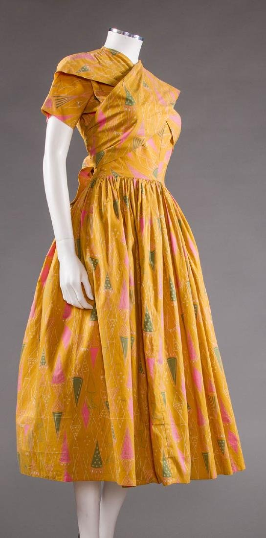 CLAIRE McCARDELL COTTON PRINT DRESS, 1950s - 2