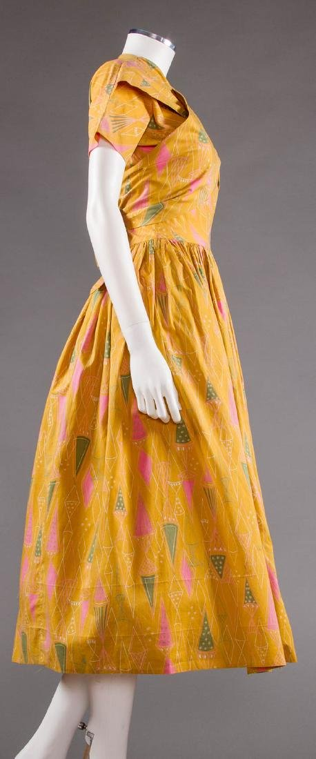 CLAIRE McCARDELL COTTON PRINT DRESS, 1950s - 3