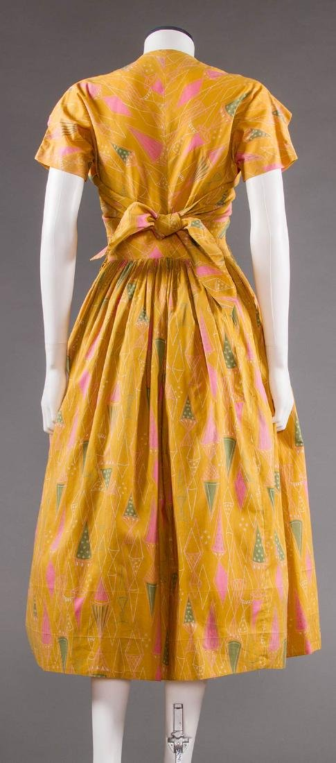 CLAIRE McCARDELL COTTON PRINT DRESS, 1950s - 4