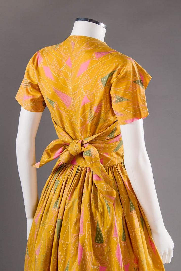 CLAIRE McCARDELL COTTON PRINT DRESS, 1950s - 5