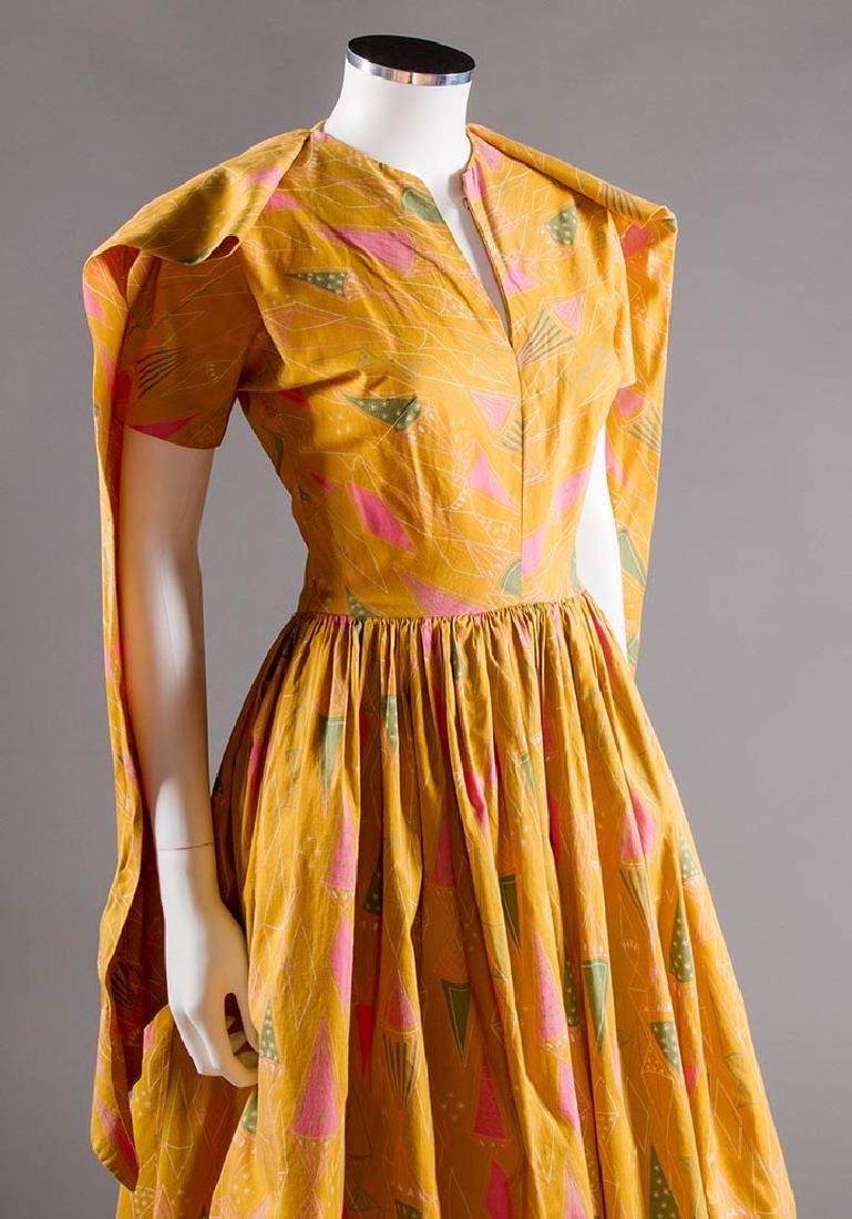 CLAIRE McCARDELL COTTON PRINT DRESS, 1950s - 6