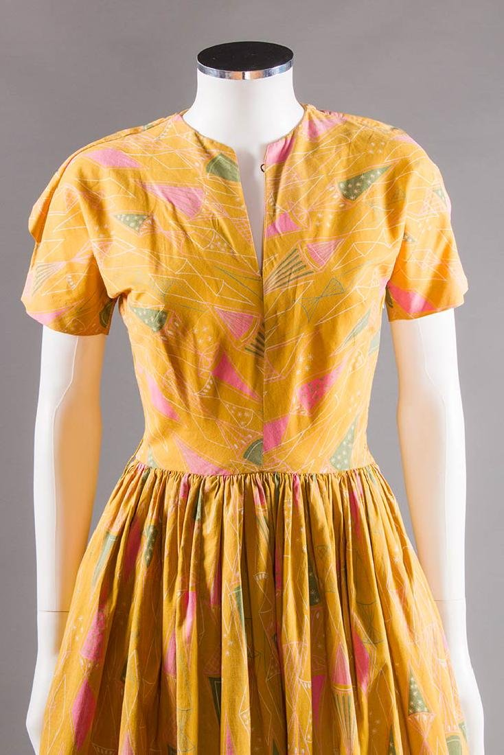 CLAIRE McCARDELL COTTON PRINT DRESS, 1950s - 7