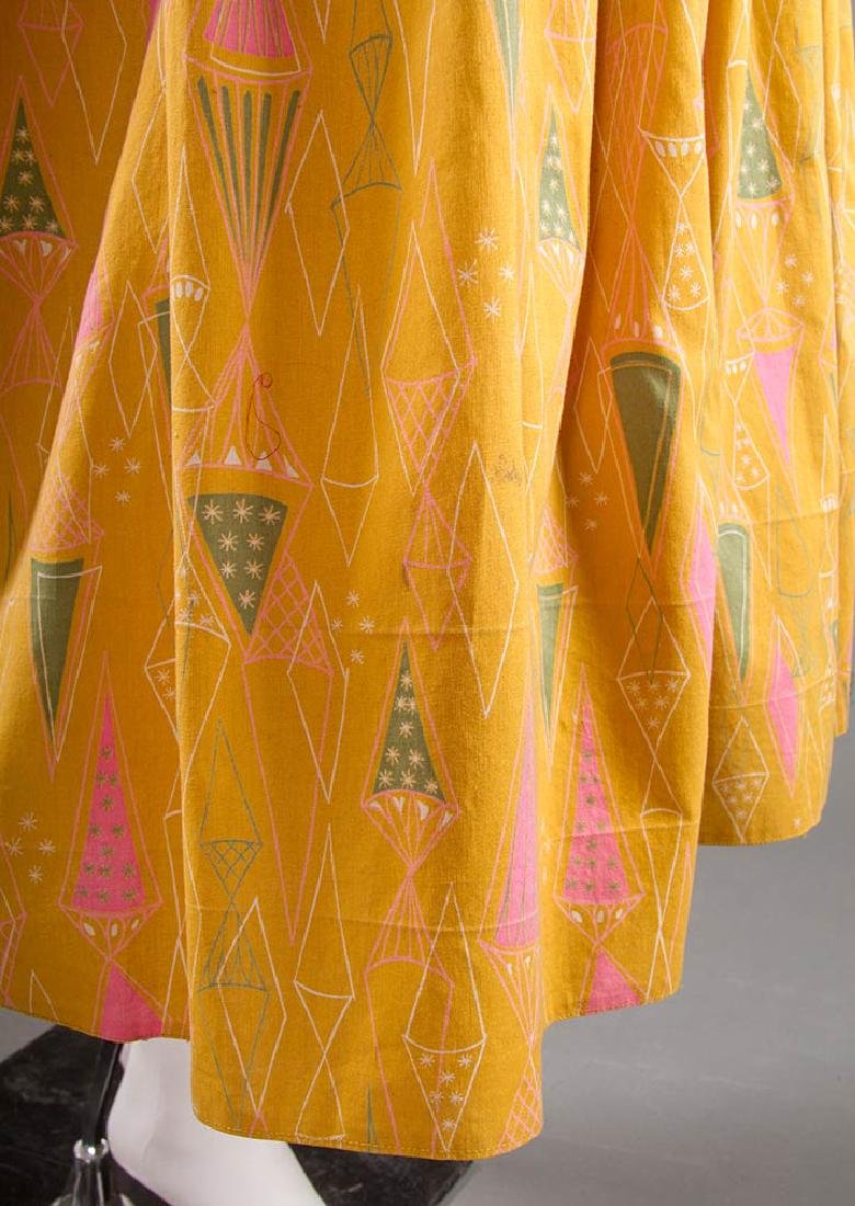 CLAIRE McCARDELL COTTON PRINT DRESS, 1950s - 8