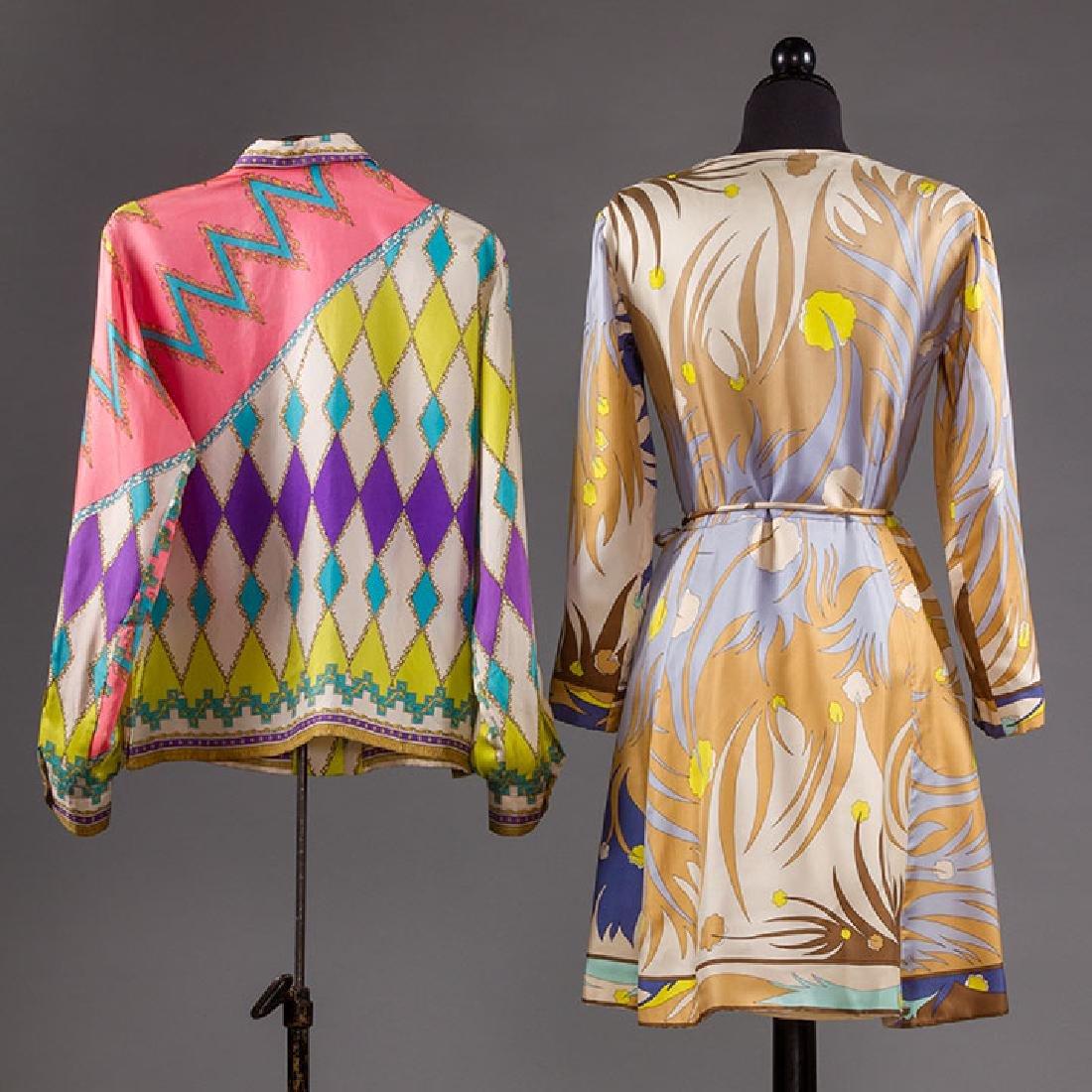 PUCCI SILK BLOUSE & SILK WRAP DRESS, 1970s - 2