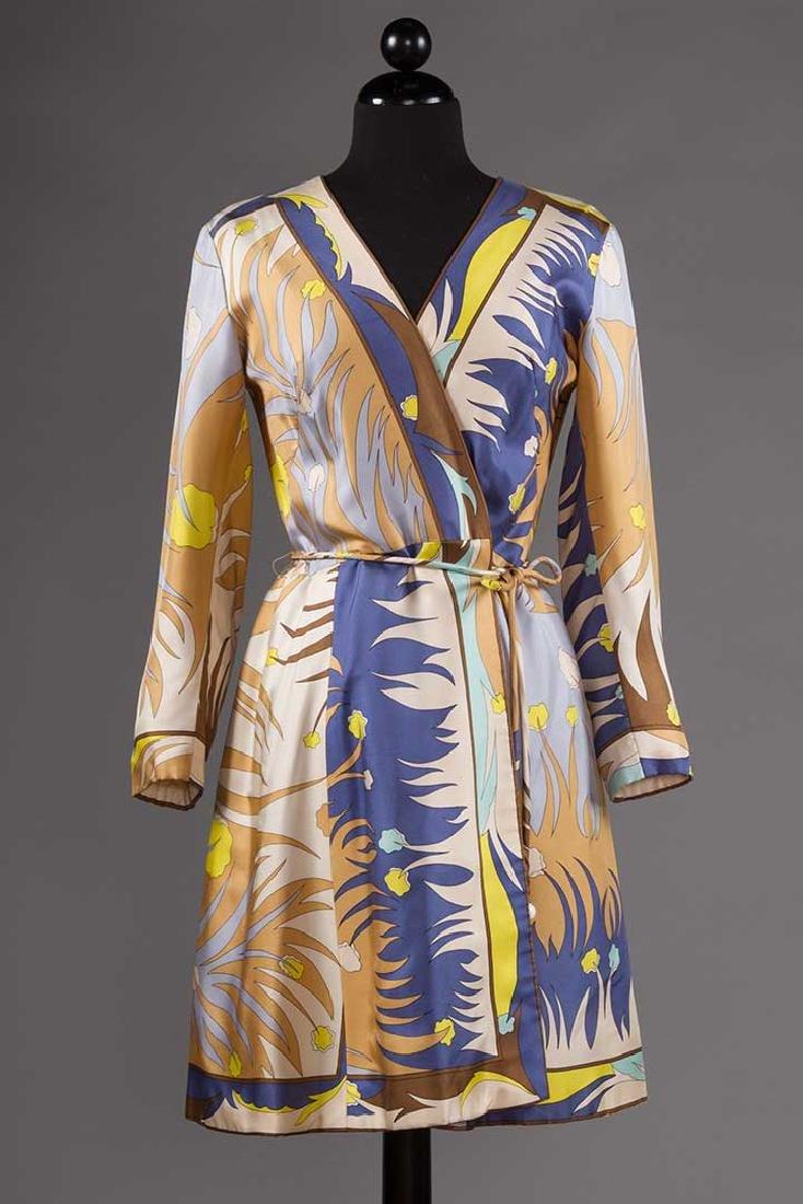 PUCCI SILK BLOUSE & SILK WRAP DRESS, 1970s - 7