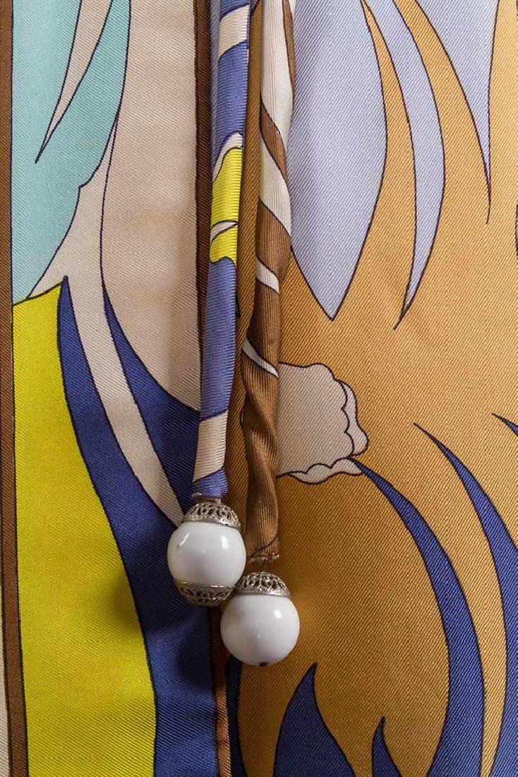 PUCCI SILK BLOUSE & SILK WRAP DRESS, 1970s - 8