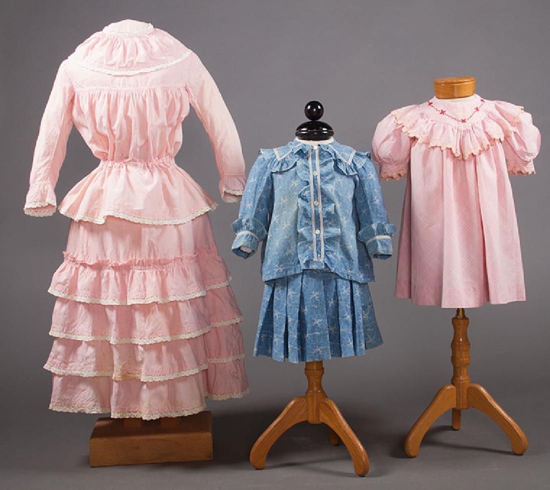 1 BOY'S & 2 GIRL'S DRESSES, 1880-1900
