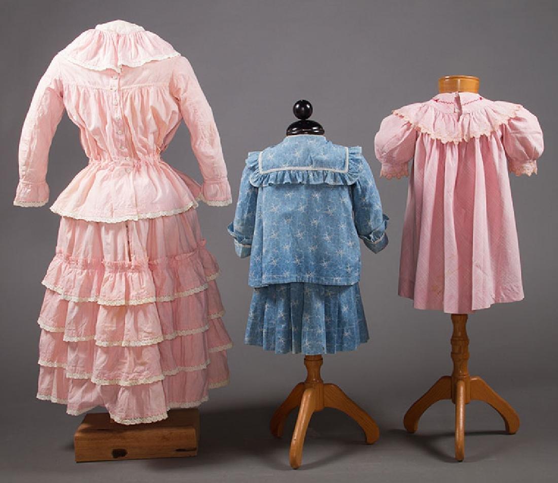 1 BOY'S & 2 GIRL'S DRESSES, 1880-1900 - 3
