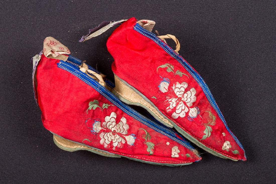 2 PAIR SHOES & 1 PAIR SLIPPERS FOR BOUND FEET, CHINA - 4