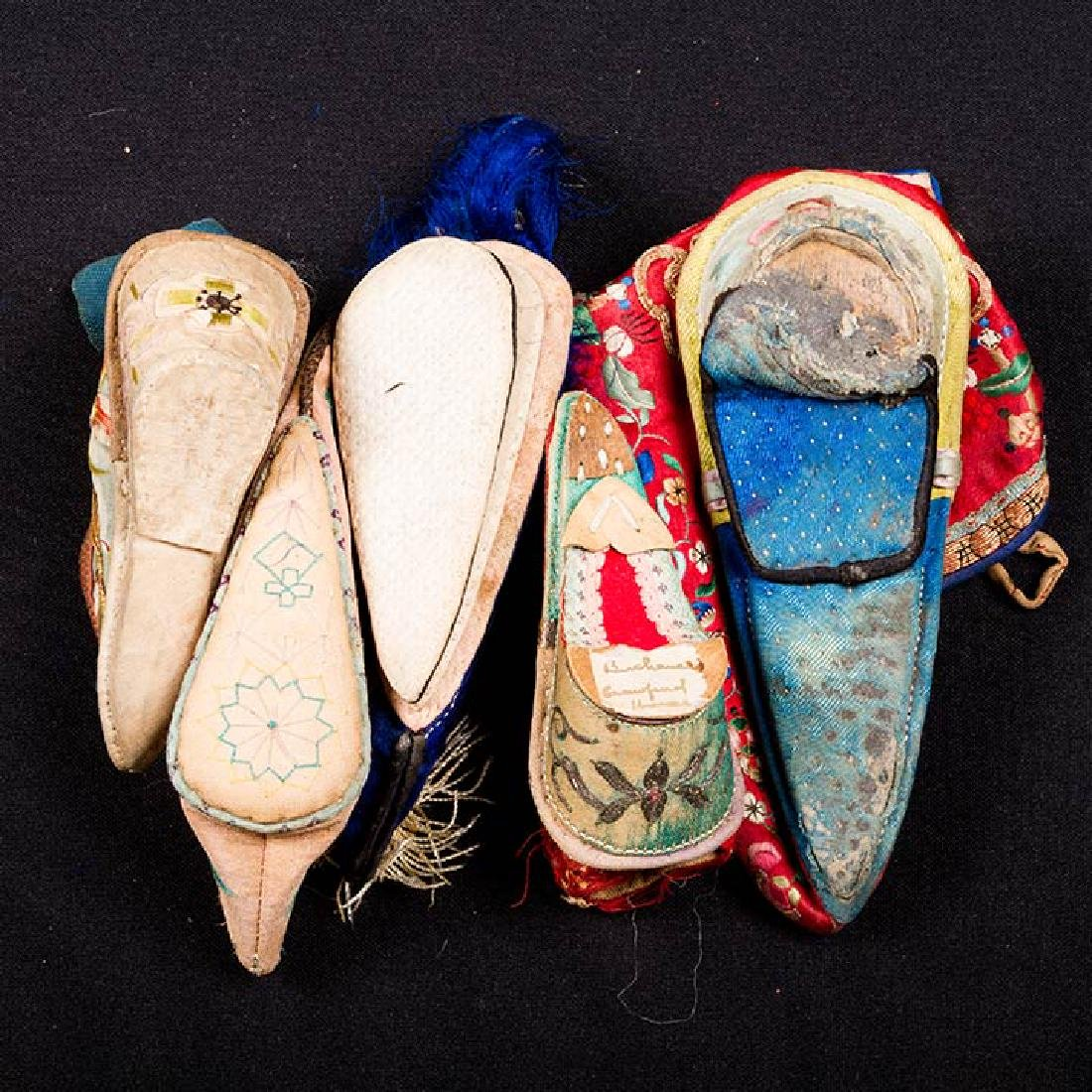 2 PAIR & 6 SINGLE SHOES FOR BOUND FEET, CHINA - 5