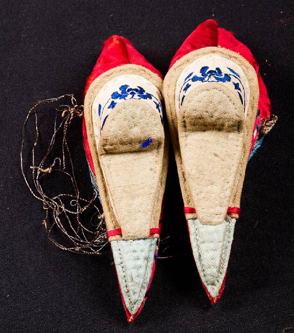 2 PAIR & 6 SINGLE SHOES FOR BOUND FEET, CHINA - 6