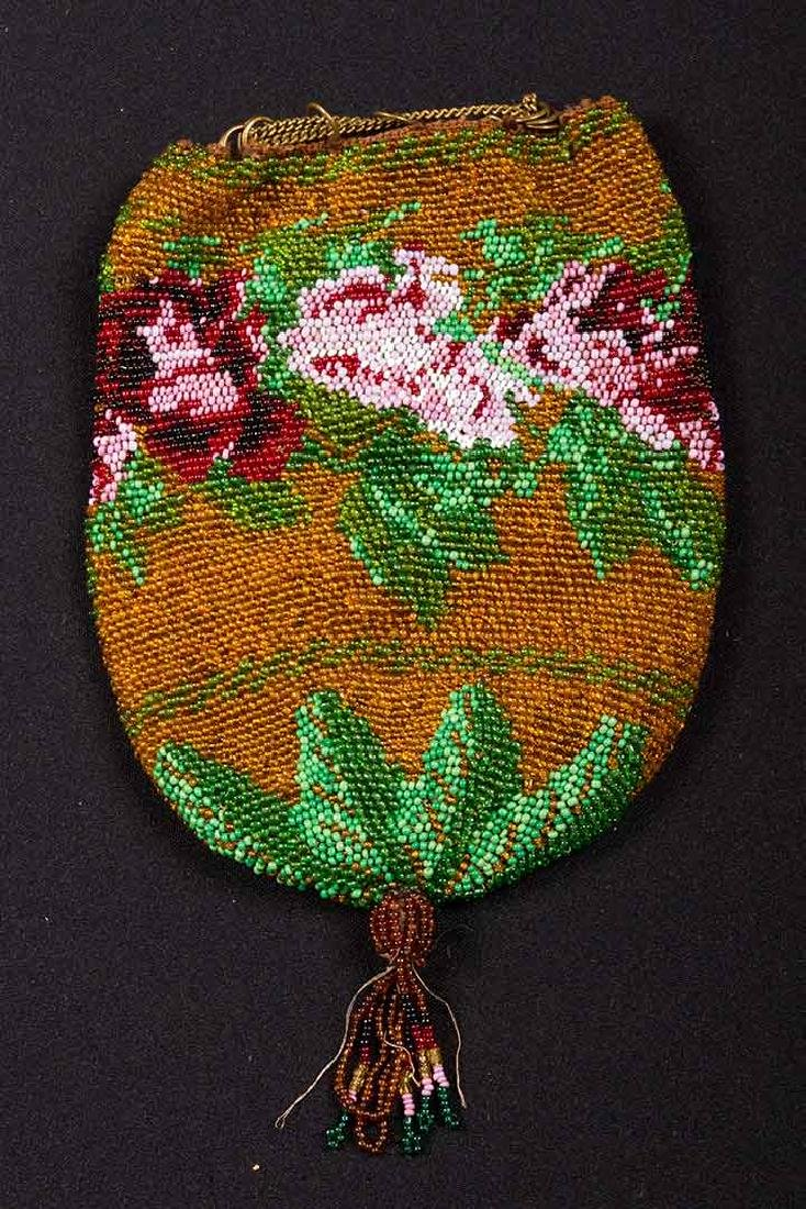 7 SMALL BEADED BAGS, 19th C. - 3