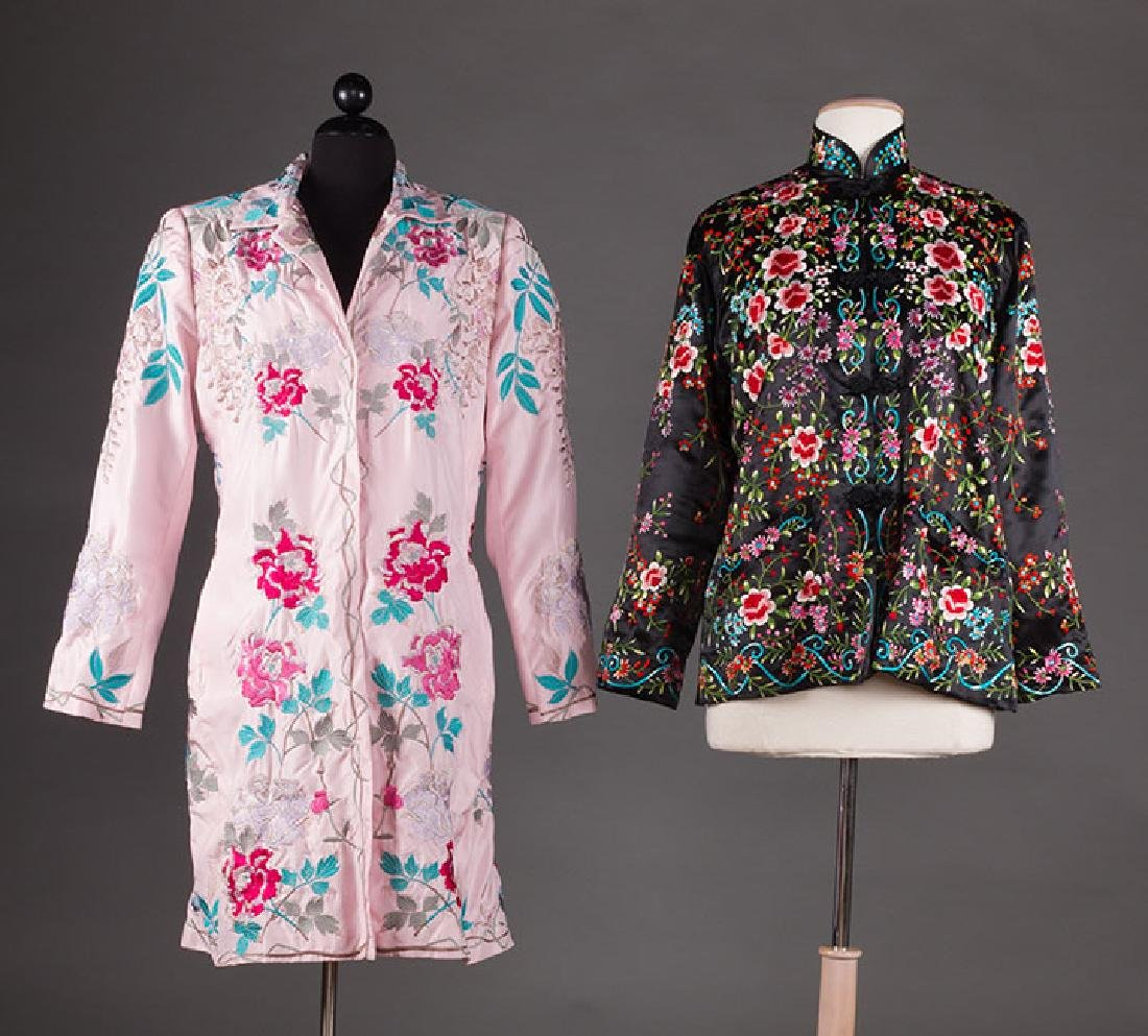 TWO EMBROIDERED SILK JACKETS, ASIA
