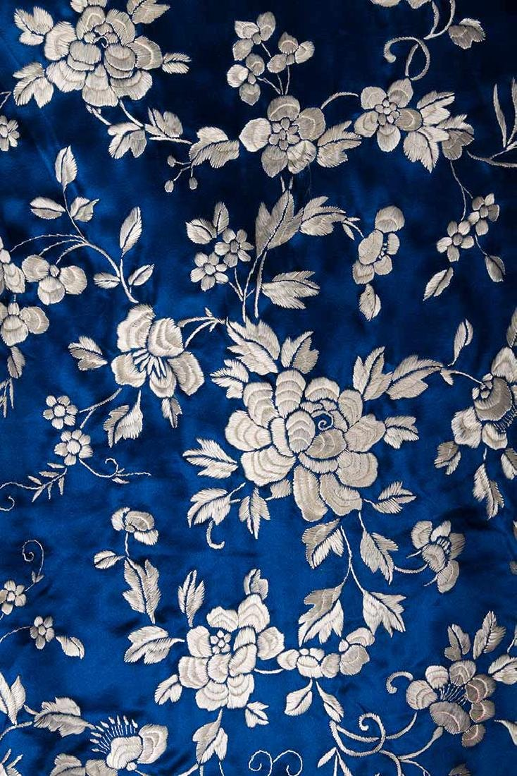1 BLUE & 1 WHITE EMBROIDERED JACKETS, CHINA, 1950s - 3