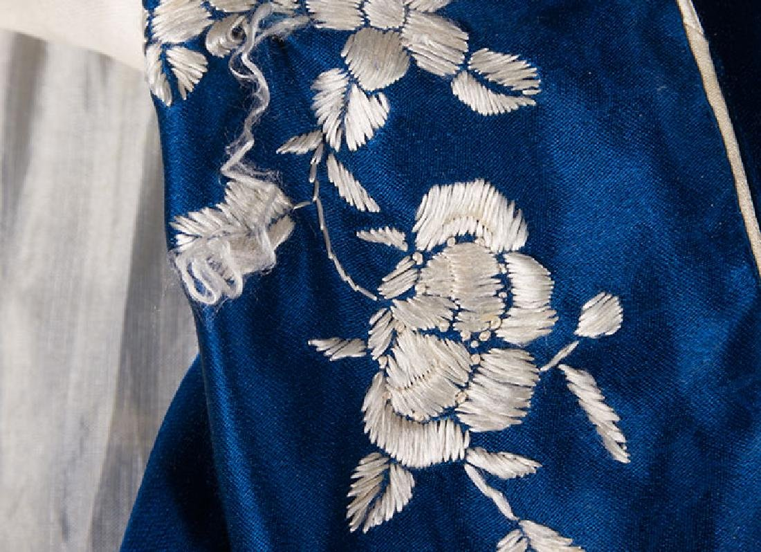 1 BLUE & 1 WHITE EMBROIDERED JACKETS, CHINA, 1950s - 6