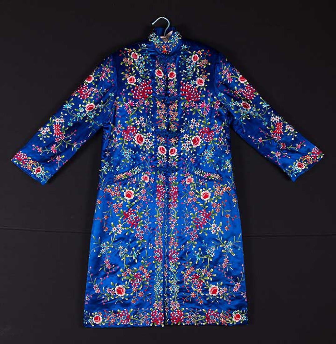 WOMANS EMBROIDERED BLUE COAT, CHINA