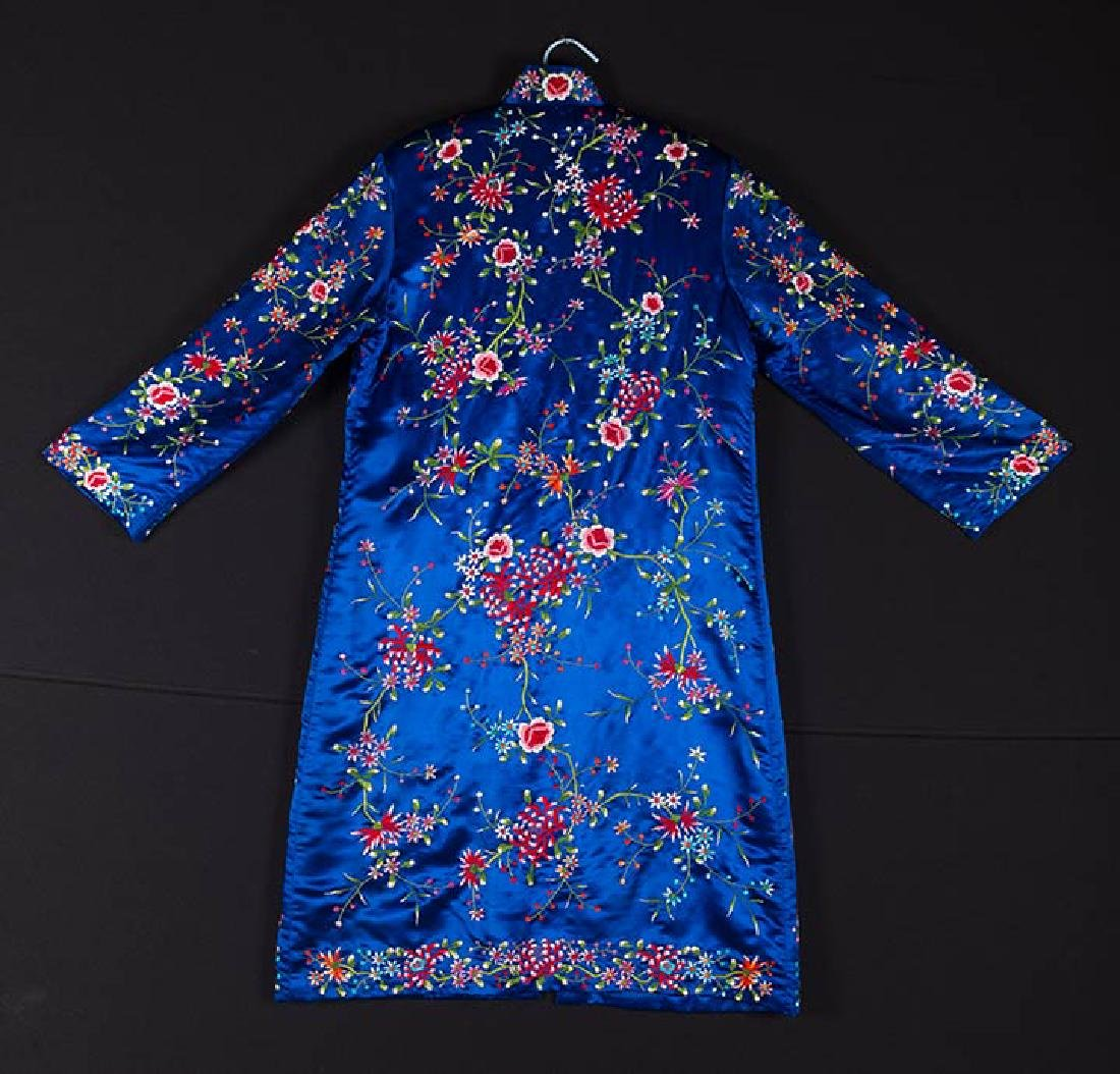 WOMANS EMBROIDERED BLUE COAT, CHINA - 2