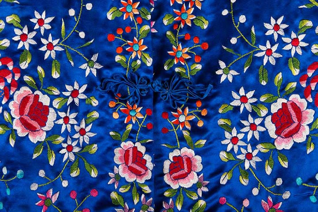 WOMANS EMBROIDERED BLUE COAT, CHINA - 3