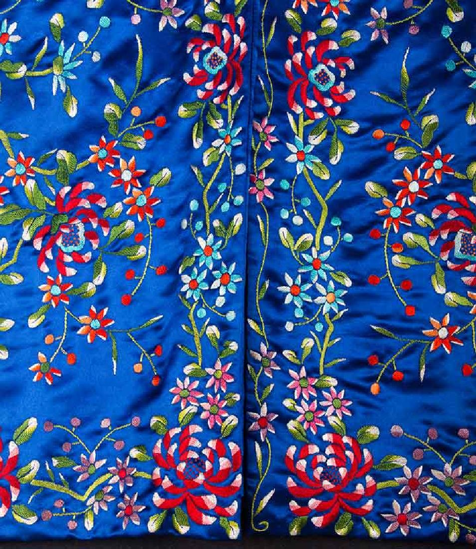 WOMANS EMBROIDERED BLUE COAT, CHINA - 4