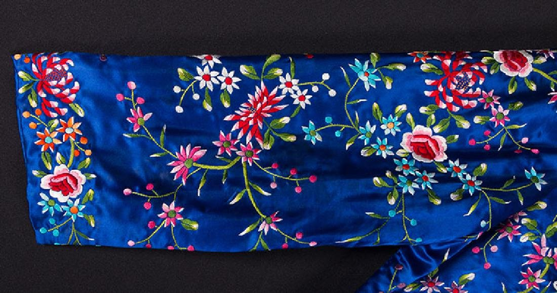 WOMANS EMBROIDERED BLUE COAT, CHINA - 5