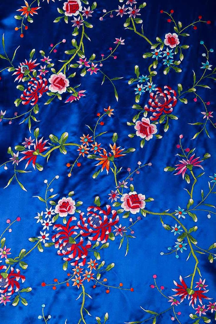WOMANS EMBROIDERED BLUE COAT, CHINA - 6