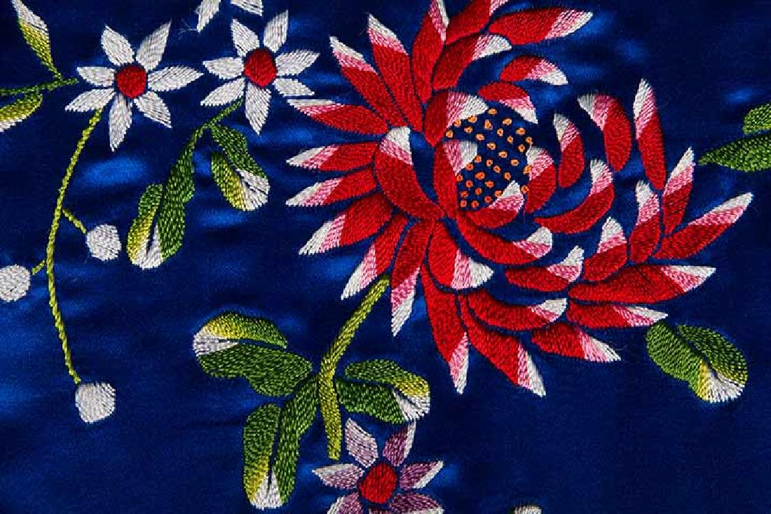 WOMANS EMBROIDERED BLUE COAT, CHINA - 7