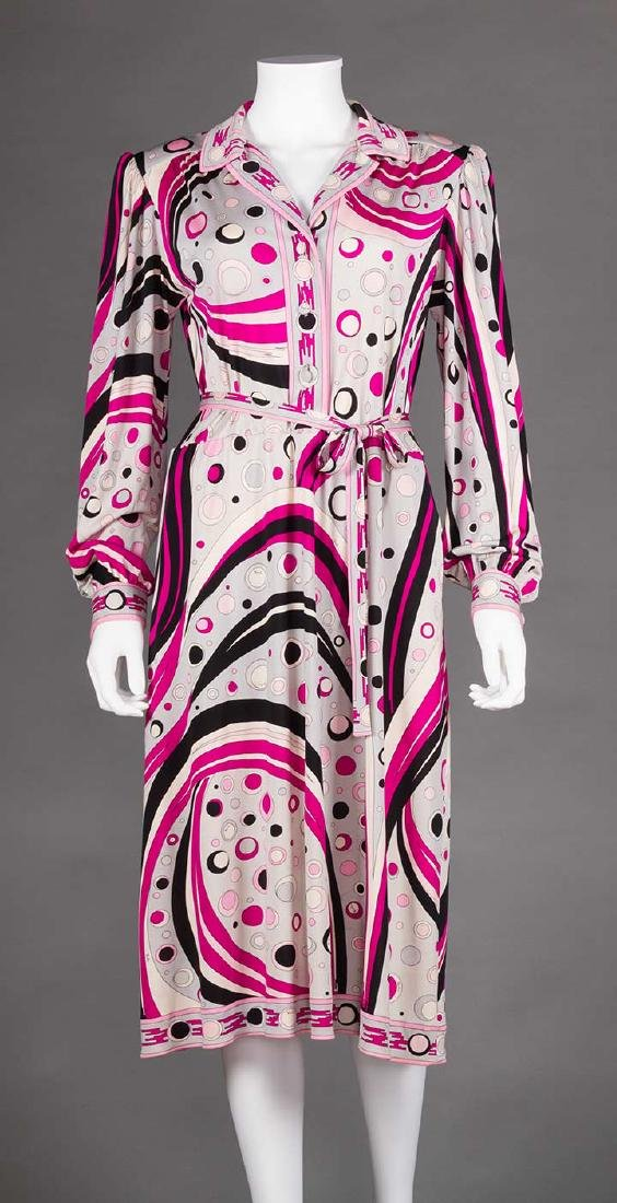 RASPBERRY PUCCI DRESS, 1970s