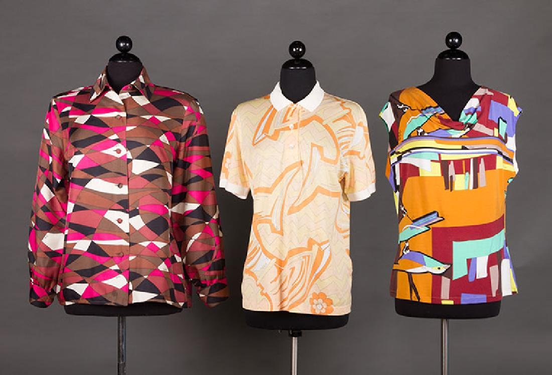 THREE PUCCI BLOUSES, 1970s