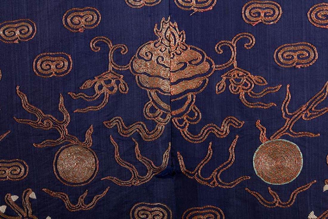 BLUE & GOLD DRAGON ROBE, CHINA, 19th C. - 6