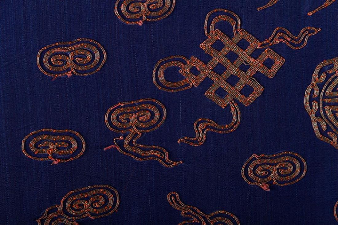 BLUE & GOLD DRAGON ROBE, CHINA, 19th C. - 8
