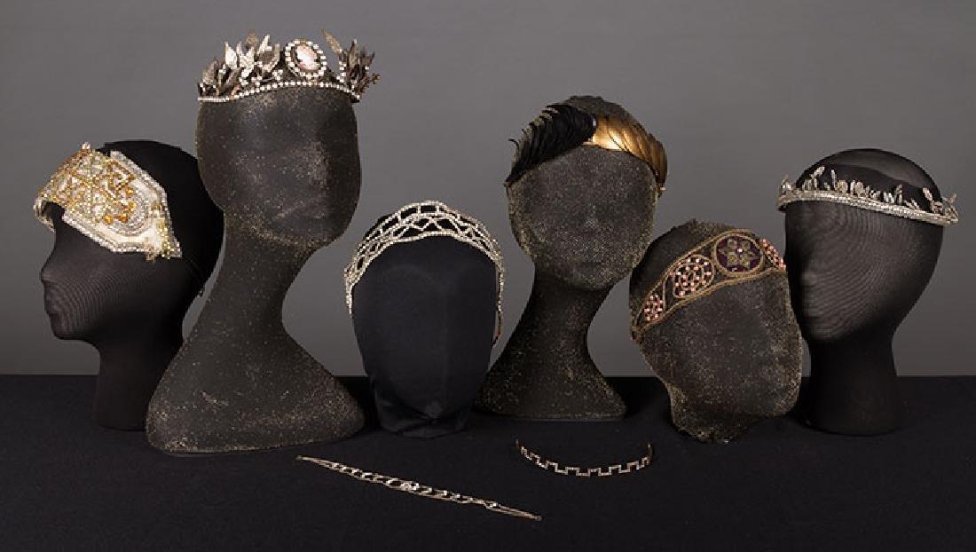 8 BEADED TIARAS & HEADBANDS, 1910-1920s
