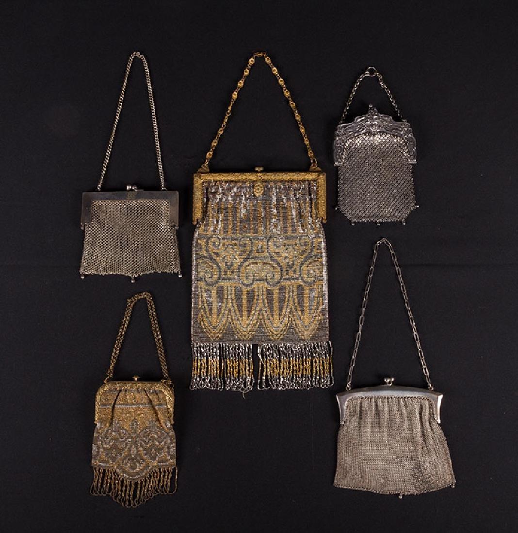 5 METAL EVENING BAGS