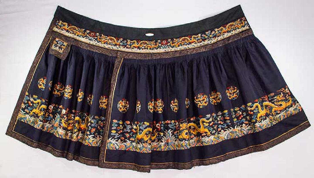 DRAGON EMBROIDERED SKIRT, CHINA, 19TH C