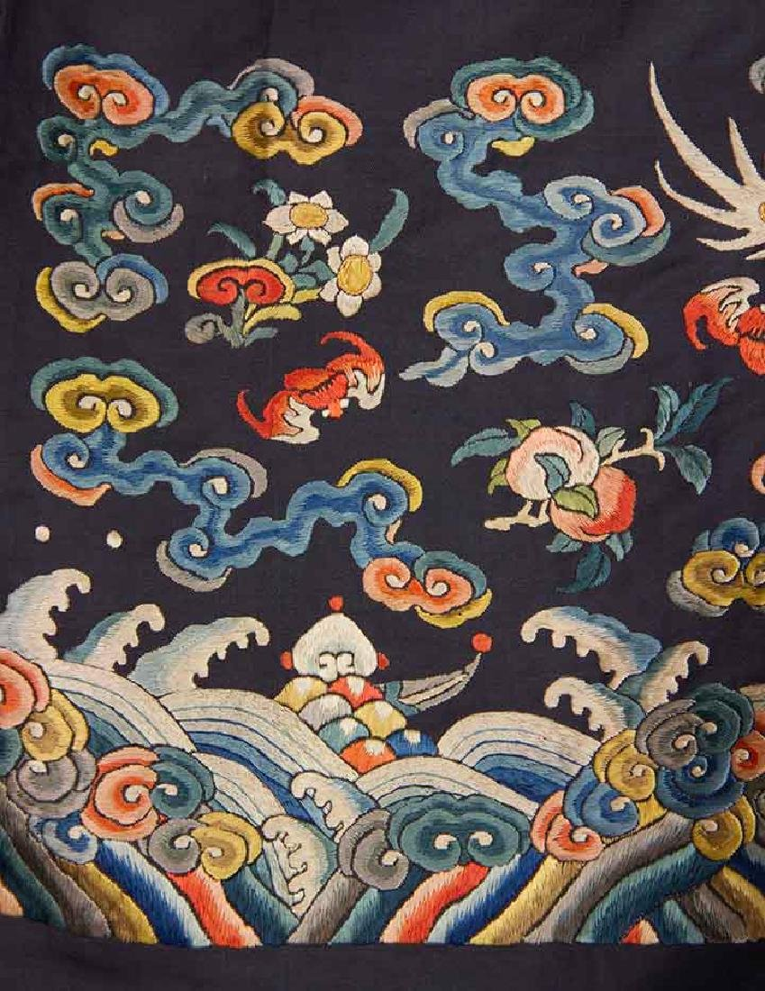 DRAGON EMBROIDERED SKIRT, CHINA, 19TH C - 6
