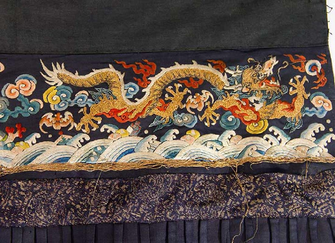 DRAGON EMBROIDERED SKIRT, CHINA, 19TH C - 7