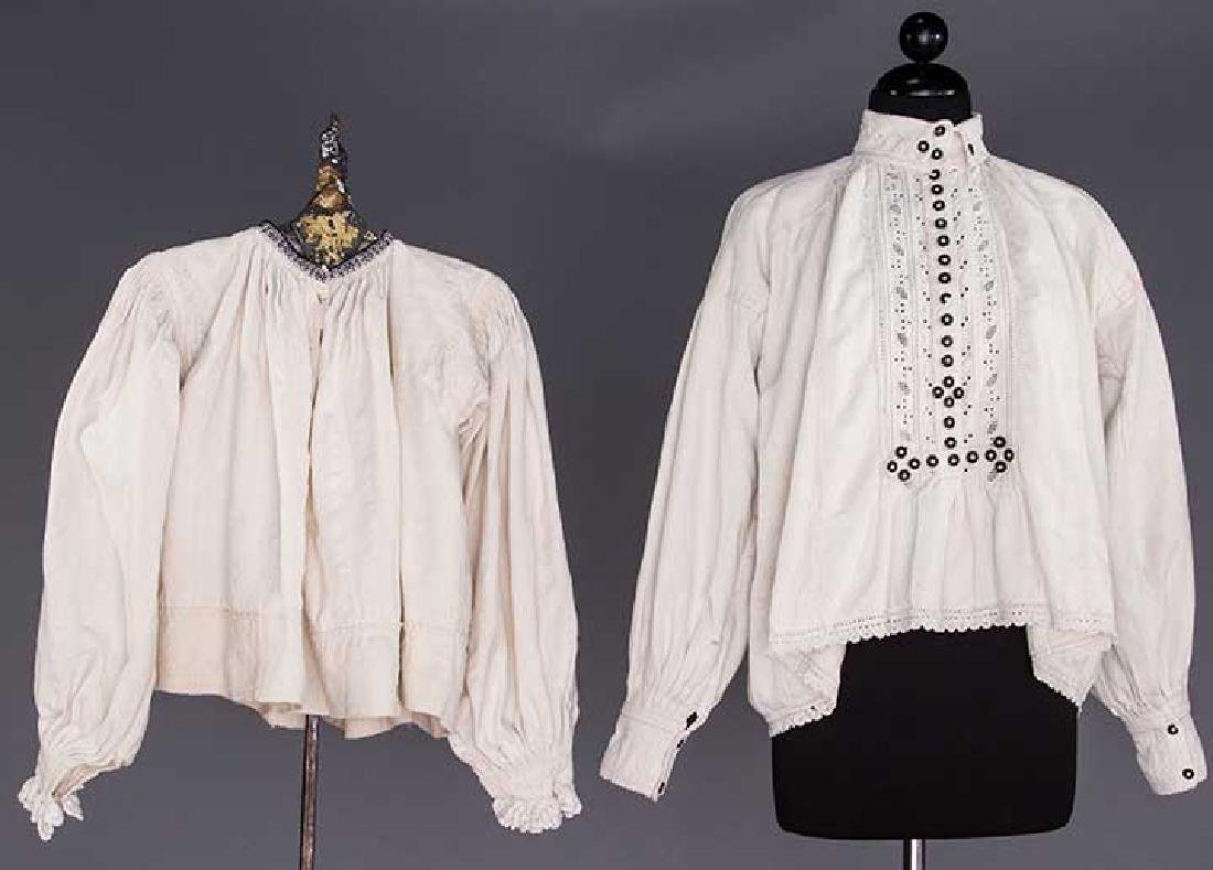 TWO EMBROIDERED REGIONAL BLOUSES, TRANSYLVANIA