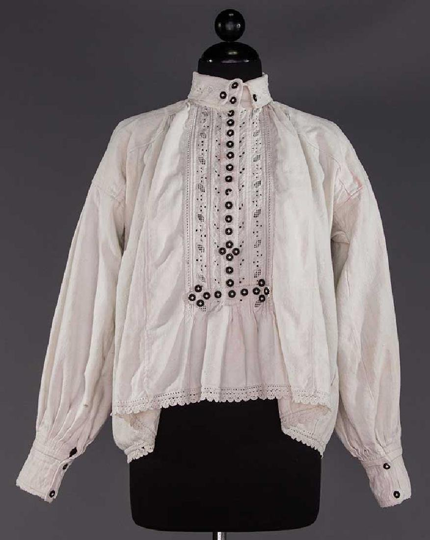 TWO EMBROIDERED REGIONAL BLOUSES, TRANSYLVANIA - 3