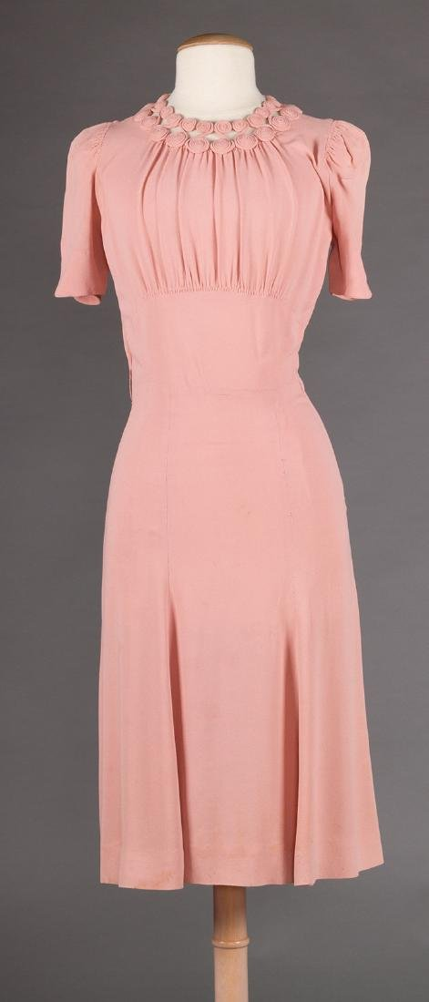 3  DAY DRESSES, 1940s - 10
