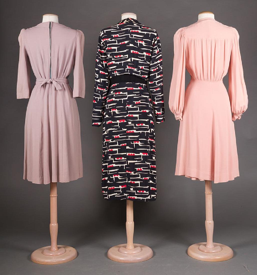 3  DAY DRESSES, 1940s - 3