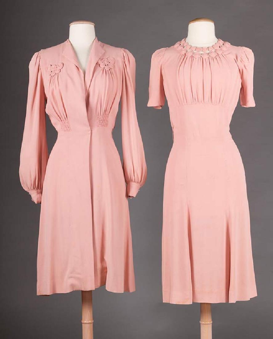 3  DAY DRESSES, 1940s - 8