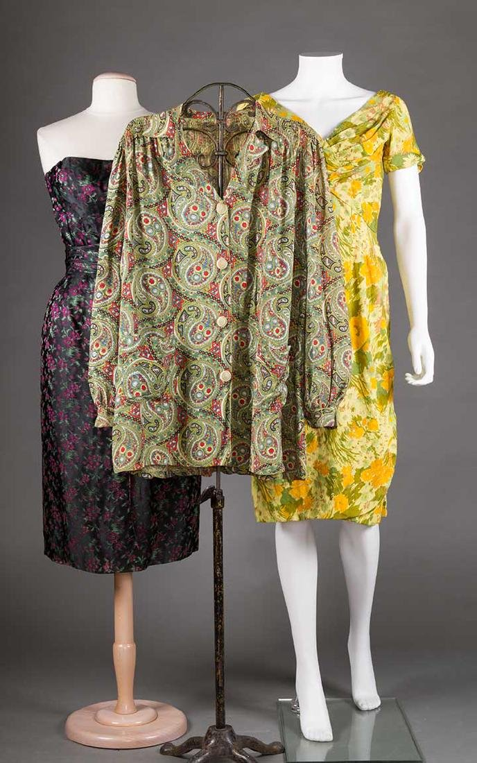 TWO EVENING DRESSES, c. 1960 - 10