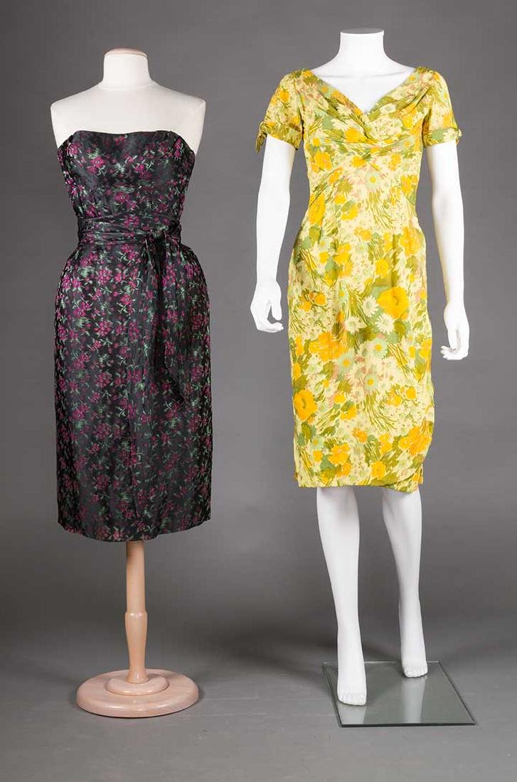 TWO EVENING DRESSES, c. 1960