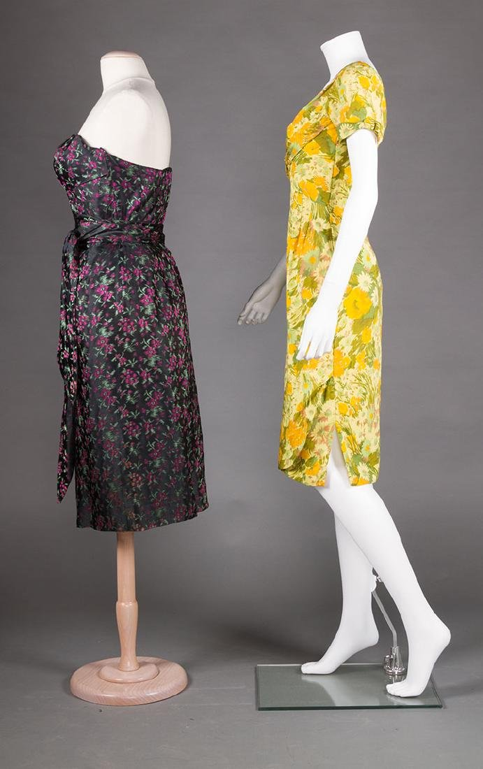 TWO EVENING DRESSES, c. 1960 - 2